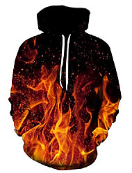 cheap -3d fire flame hoodie red smoke graphic printed pullover hoodies fashion street style hip hop hooded sweatshirt for men women xxl