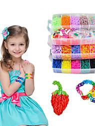 cheap -Rubber Bands Refill Kit DIY for Making Bracelet Kit Rainbow Silica Gel 15000 pcs Toy Gift