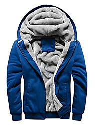 cheap -men's winter sherpa lined zipper fleece hoodie sweatshirt jacket (blue, x-large)