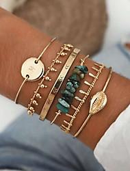 cheap -Women's Bracelet Bangles Friendship Bracelet Layered Sun Stylish Simple Korean Alloy Bracelet Jewelry Gold For Gift Prom Date Birthday Beach