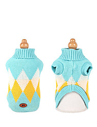 cheap -Dog Coat Sweater Color Block Fashion Casual / Sporty Casual / Daily Winter Dog Clothes Puppy Clothes Dog Outfits Breathable White Blue Orange Costume for Girl and Boy Dog Cotton XXS XS S M L