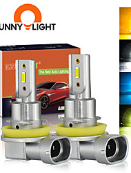 cheap -CNSUNNYLIGHT Car Fog Lights B1 2PCS  H11/H8/H9 9005/HB3 9006/HB4 LED Bulb Auto Driving DRL Lamp White/Yellow 2400Lm Plug&Play 12V 24V 4 Kinds Of Color Ray