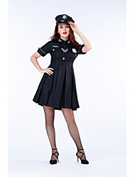 cheap -Snow White Police Movie / TV Theme Costumes Cosplay Costume Costume Adults' Women's Halloween Halloween Festival Halloween Festival / Holiday Polyester Black Women's Easy Carnival Costumes Solid