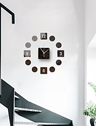 cheap -3D DIY Wall Clock Frameless Mirror Wall Sticker Home Decor for Living Room Bedroom