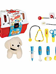 cheap -kids play veterinarian doctor set vet play set with dog toys for toddlers kids