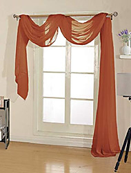 """cheap -premium quality sheer voile scarf valance for home & event designs (54"""" x 216"""", brick)"""
