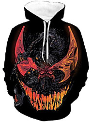 cheap -men's digital print sweatshirts hooded top galaxy pattern hoodie dy sm