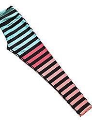 cheap -power flex yoga pants workout leggings pants high waist striped yoga leggings for women (m,gray stripe)