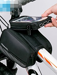 cheap -ROCKBROS Cell Phone Bag Bike Frame Bag Top Tube 6 inch Touch Screen Reflective Logo Rainproof Cycling for iPhone X iPhone XR iPhone XS Black Mountain Bike MTB Bike / Cycling / iPhone XS Max