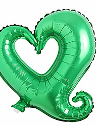 cheap -18 inch hook heart shape aluminum foil balloons inflatable wedding party decoration valentine days birthday baby shower air balloons (18 inch hook heart green)