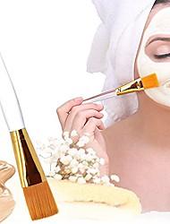 cheap -professional soft facial mask brush makeup brushes cosmetic tools for applying facial mask eye mask peel serum or diy needs& #40;golden& #41;