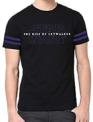 cheap -starwars graphic tees for mens - adult novelty sky-walker men black t shirt (l)