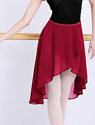 cheap -Ballet Skirts Metallic Buckle Ruching Solid Women's Training Performance High Polyester