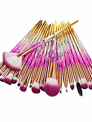 cheap -makeup brushes set professional - 20 pcs cosmetic makeup brush set for foundation blending blush concealer eye shadow brushes & #40;pink& #41;