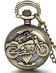 cheap -motorcycle pocket watch quartz movement half hunter vintage chain watch