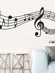 cheap -Wall Sticker Decor Music Notes Melody Wall Bedroom Office Christmas Musical Wall Door Window Room Decor House Decoration