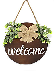 cheap -smithfarmco welcome sign for front door front door decor rustic wooden hanging sign farmhouse porch decorations outdoor premium quality porch decor (brown)