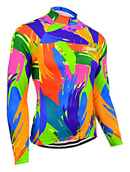 cheap -21Grams Women's Long Sleeve Cycling Jersey Blue+Orange Solid Color Bike Jersey Top Mountain Bike MTB Road Bike Cycling UV Resistant Breathable Quick Dry Sports Clothing Apparel / Stretchy