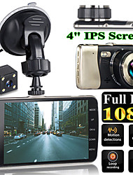 cheap -4 Inch Dual Lens Camera HD 1080P Auto DVR Voertuig Video Dash Cam Recorder G-Sensor Video Recorder HD Camera Dual Lens