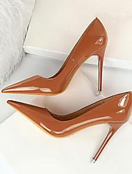 cheap -Women's Heels Stiletto Heel Pointed Toe PU Spring & Summer Black / Brown / Camel