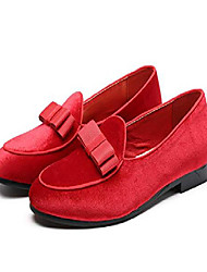 cheap -men's bowtie gentleman oxfords shoes elegant formal footwears slip on loafers us8.5 red-a