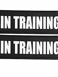 cheap -reflective in training dog patches with hook backing for service dog vests harnesses