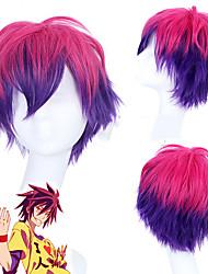 povoljno -Ne igra nema života Sora Cosplay Wigs Uniseks Stepenasta frizura 12 inch Otporna na toplinu vlakna Kovrčav Postupno Boy Odrasli Anime perika
