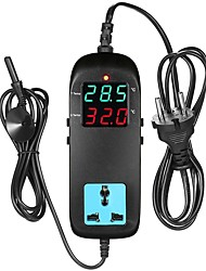 cheap -Electronic Thermostat LED Digital Display Breeding Temperature Controller Thermocouple Thermostat with Socket AC 90V250V-Eu plug