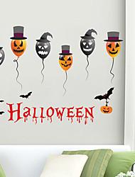 cheap -Halloween Pumpkin Wall Stickers Decorative Wall Stickers, PVC Home Decoration Wall Decal Wall Decoration / Removable 30*90*2CM