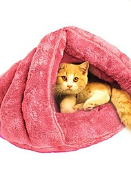 cheap -cat bed sleeping bag sleep zone for puppy cat rabbit bed small animals shearling sleeping bag (ping cat bed)