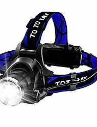 cheap -l-1 Headlamps Waterproof 150 lm LED LED 1 Emitters 4 Mode with Adapter Waterproof Portable Professional Camping / Hiking / Caving Fishing Black / Blue