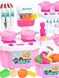 cheap -22pcs play kitchen set for kids, pretend cooking kit including pots and pans,cutting play food and other utensils accessories, gift toys for toddlers, baby, girls, boys