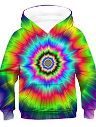 cheap -Kids Boys' Hoodie & Sweatshirt Long Sleeve 3D Rainbow Children Tops Active Basic Children's Day