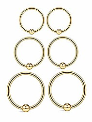 cheap -22g sterling silver small hoop earrings set 14k gold plated ball bead hoop cartilage earrings helix tragus lip nose body piercing rings for women men girls, 8mm 10mm 12mm (gold:8/10/12mm)