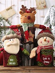 cheap -Christmas Ornaments Leather Candy Jar Christmas Snow Man Gift Box Apple Box Child Cartoon Doll Gift Box