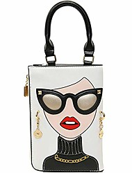 cheap -novelty personalized women's 3d ladies designer leather top handle satchel handbags tote purse crossbody shoulder bags (white)