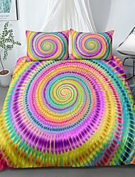 cheap -Home Textiles 3D Print Bedding Set Duvet Cover Set with Pillowcase,2/3 pcs Duvet Cover Sets Rainbow Tie Dye Print Bedding Set