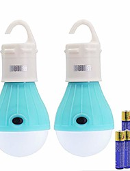 cheap -lanterns battery powered led camping lights with hook for easy hanging - portable and lightweight tent light for kids lantern with adjustable brightness - 2 packs, 6 aaa battery included