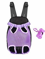 cheap -legs out dog front carrier breathable dog chest carrier hands-free pet holder with wide adjustable shoulder straps bonus dog poop bag dispenser (purple)