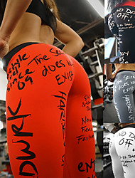cheap -Women's High Waist Yoga Pants Leggings Butt Lift Breathable Quick Dry White Black Red Spandex Fitness Running Workout Sports Activewear High Elasticity Skinny / Moisture Wicking