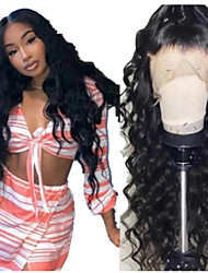 cheap -Synthetic Wig Curly Loose Curl Middle Part Wig Long Natural Black Synthetic Hair 24 inch Women's Fashionable Design Fluffy Black