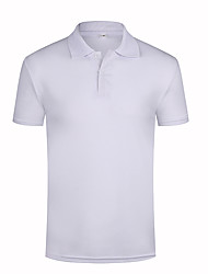 cheap -Men's Solid Color Polo Ceremony Tops Sapphire White Black / Summer