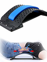 cheap -back stretcher,lumbar support device adjustable pain relief back massager posture corrector back stretching treatment for spinal stenosis herniated disc,sciatica,scoliosis(blue)