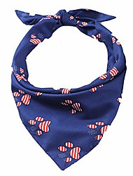 cheap -american flag dog bandana usa flag accessories decoration for small and medium dogs cats (paw)