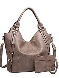 cheap -women tote bag handbags pu leather fashion hobo shoulder bags with adjustable shoulder strap, l,khaki