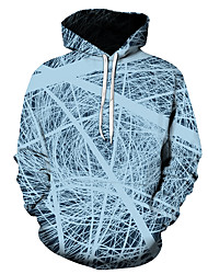 رخيصةأون -رجالي مناسب للبس اليومي البلوز هوديي البلوز 3D الرسم أساسي هوديس بلوزات أزرق فاتح