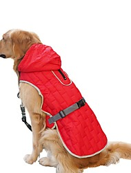 cheap -Dog Coat Vest Solid Colored Classic Style Sports Outdoor Winter Dog Clothes Warm Purple Red Blue Costume Polyster S M L XL XXL 3XL