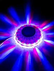 cheap -LED Mini Stage Lights Rotating Color Small UFO Stage Light Crystal Magic Disco Ball Sun Light Strobe KTV for Dance Hall Night Club Karaoke Party at Home