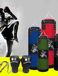 cheap -Punching Bag Heavy Bag Kit With Hanger Boxing Gloves Removable Chain Strap Punching Bag for Taekwondo Boxing Karate Martial Arts Muay Thai Adjustable Durable Empty Strength Training 5 pcs Black Blue