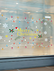 cheap -Christmas Wall Stickers Decorative Wall Stickers, PVC Home Decoration Wall Decal Wall Decoration / Removable 30*90*2CM